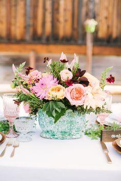 pink floral arrangem