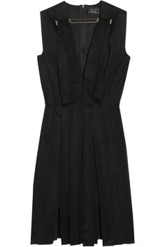 Lanvin|Ribbon-paneled grosgrain dress|NET-A-PORTER.COM