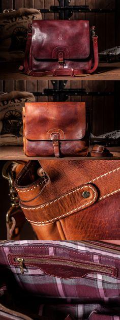 HandMade Leather Bag / Postman / Cognac/Tan / $650 #ModernVintage #HandCraftLeather #Sandast #Quality #Postman #LosAngeles #LA #Bag #Leather #Handmade