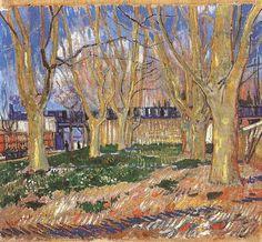 Vincent van Gogh: The Paintings (Avenue of Plane Trees near Arles Station) 1888. Paris: Rodin Museum.