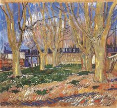 Vincent van Gogh: The Paintings (Avenue of Plane Trees near Arles Station) 1888. Paris: Rodin Museum.