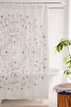 Milly Medallion Shower Curtain - Urban Outfitters
