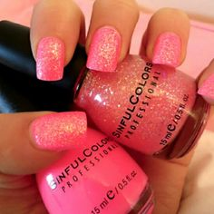 What Color Should You Paint Your Nails According To Your Personality? Are you going to try this sparkly pink nail polish this spring? Find out what color you should paint your nails here! Light Pink Nails, Pink Nail Art, Glitter Nail Art, Cool Nail Art, Pink Glitter, Pink Sparkly, Pink Bling, Fushia Pink, Pink Manicure