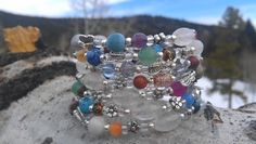 #1 WRAP BANGLE MIXED BRACELET $12.00