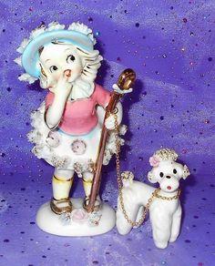 "Vintage Shepherd Girl Spaghetti Poofs Spaghetti Poodle Lipper & Mann 6""   #1807009850"