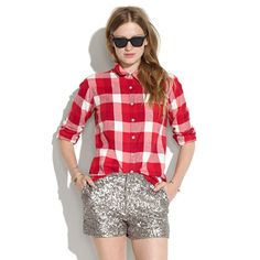 Checked Flannel Boyshirt OK this yet from Madewell, I really need a red flannel again. I had one like 10 years ago that layered w/ everything, just like you do your blue chambray.