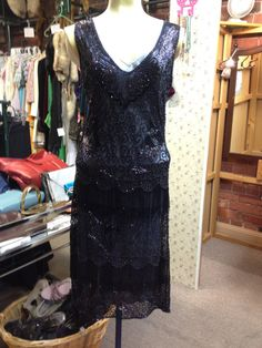 1920s Style Flapper Dress by JulieVintageBoutique on Etsy, $395.00