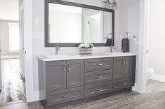 Double Sink Vanity, Vanity Design, Showcase Design, Vanities, Your Space, Decor Ideas, Dressers, Double Vanity, Dresser To Vanity