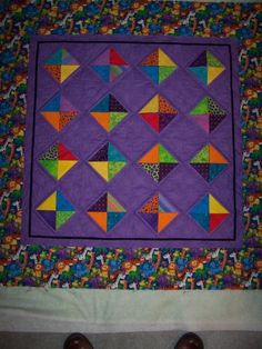 Child's peekaboo quilt, from Chris Liebel's Happy Stitches gallery.