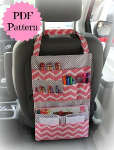This listing is for the PATTERN to make your own Travel Art-folio for your child. Easy step by step instructions with plenty of pictures. Pattern updated 4/2/2015 to include more detail with instructions - This listing is for the pattern only, no finished product will be mailed to you. __________________________________________________________________________ Velcro handle easily attaches around the headrest of vehicle seats (seat ahead of child) so that items are easily reachable...