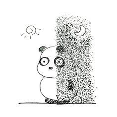 【一日一大熊猫】2016.9.22 秋分は二十四節気の一つで 昼と夜が半分になる時期らしいよ。 でも正確には昼の方が少しだけ長いんだとか。 #パンダ #panda #秋分