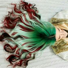 60 Amazing Green Ombre Hairstyle Design To Try In 2019 - Haare :)) - Hair color Ombre Hair Color, Cool Hair Color, Amazing Hair Color, Hair Colors, Unique Hair Color, Gorgeous Hair, Maquillage Harry Potter, Pelo Multicolor, Pulp Riot Hair Color