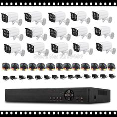 New Video Surveillance System 16CH AHD DVR Kit with CCTV Camera Outdoor
