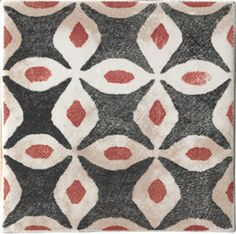 Cir's Cotto Vogue ceramic tiles feature rough-hewn patterns and bold graphics. (cir.it)