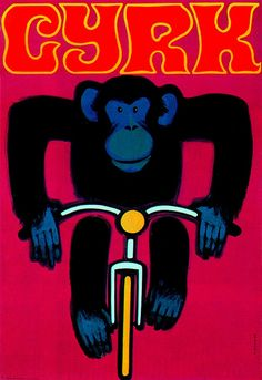 From a series of posters for the Polish Circus. Artist, Wiktor Górka. From Graphis Annual 69/70. Blogged at Aqua-Velvet.