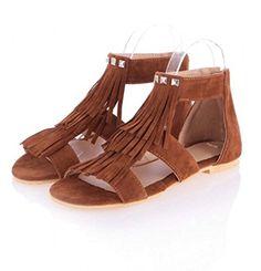 94e068a7a 2017 Summer Women Casual Sandals Plus Size Ladies Tassel Gladiator Flat  Shoes With Zipper sandalia feminina