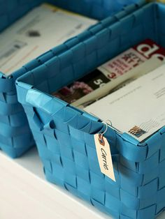Great ideas for filing important papers, bills, receipts - via BHG