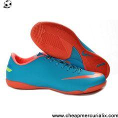 Buy Nike Mercurial Victory III IC Indoor shoes Blue Orange Football Shoes On Sale