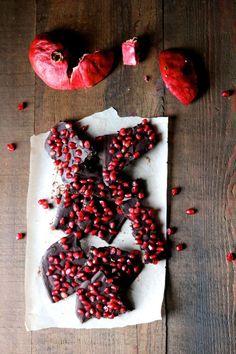Beautiful!!! Raw Dark Chocolate & Pomegranate Bark via Naked Cuisine #healthy #snackattack