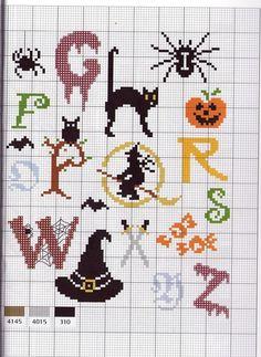halloween perler letters
