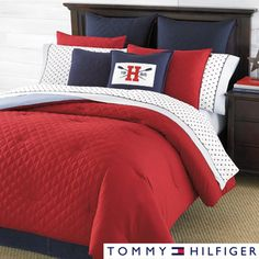 Tommy Hilfiger Prep Red Comforter | Overstock.com Shopping - Great Deals on Tommy Hilfiger Comforter Sets