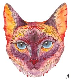 Surrealistic Wildlife by Olaliola-watercolor by Ola Liola, via Behance