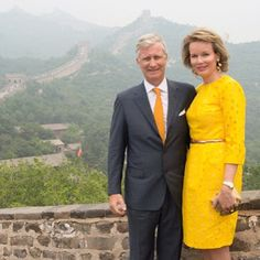 June 23, 2015 King Philippe and Queen Mathilde of Belgium at the Great Wall of China