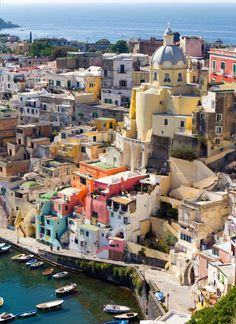//Procida, Italy, by Roberto Roberti #travel #places #photography