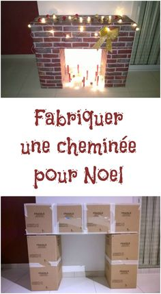 icu ~ How To DIY A Christmas Fireplace From Cardboards Diy Christmas Fireplace, Diy Christmas Room, Fake Fireplace, Easy Christmas Crafts, Christmas Mantels, Simple Christmas, Diy Crafts For Kids, Christmas Decorations, Noel Christmas