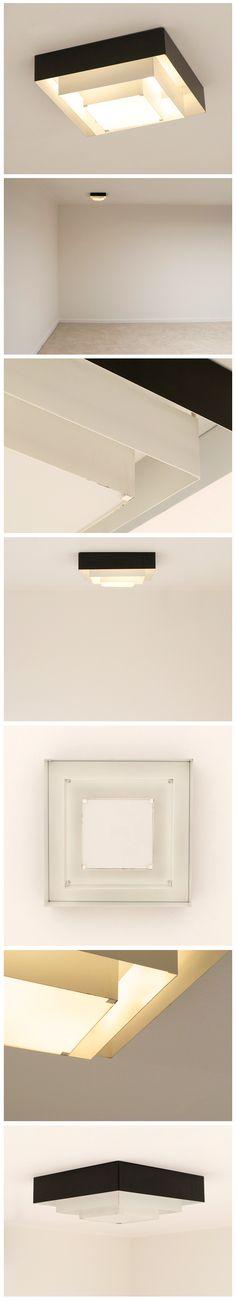 industrial ceiling lamp called Ziggurat made by Raak Amsterdam
