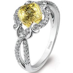 yellow diamond ring.