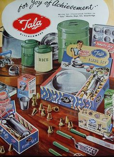 Tala advert - I LOVE these products, they have started re-making vintage packaging in a 1950's style and I imagine it must be really successful. Quintessentially British brand too!