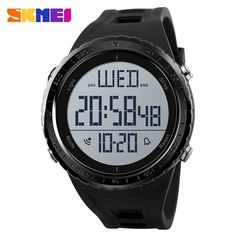 Men Sports Watches Countdown Double Time Watch Alarm Chrono Digital Wristwatches 50m Waterproof Relogio Masculino 1251 Removing Obstruction Watches Men's Watches