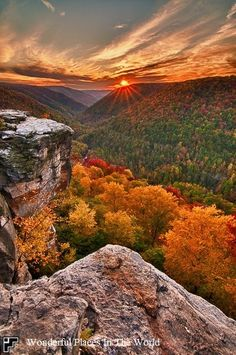 Lady AUTUMN has danced across the landscape at Lindy Point at Blackwater Falls State Park (West Virginia, USA) <> (fall, autumn, landscape, nature) West Virginia, Virginia Fall, West Va, Virginia Camping, State Parks, Beautiful World, Beautiful Places, Beautiful Pictures, Beautiful Sunset