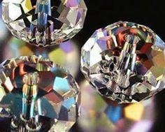 70pcs 6*8mm gris cristal à facettes rondelle Gems loose beads