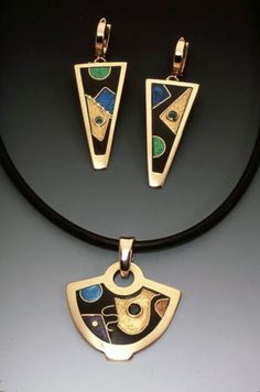 """Helen Hosking, enamel jewelry. """"All of my work is involved in an exploration of timing, form, and space."""""""