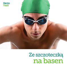 Często chodzisz na basen? Kąpiel w chlorowanej wodzie podnosi kwasowość w ustach i może powodować przebarwienia szkliwa. Dlatego dobrym pomysłem jest zabranie na basen szczoteczki i dokładne umycie zębów po pływaniu! #dentofresh #dobrarada