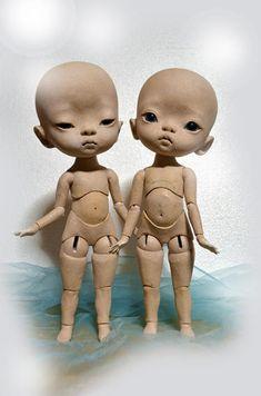 【ヒラメde宇宙人!?制作記録→つなげました】イラストを作ったら、人形(立体)にしたくなったの画像:玉青の球体関節人形 制作日記■tamaodoll-ball jointed dolls