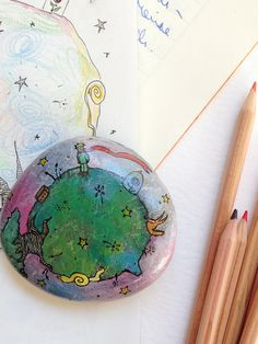 Little Prince paperweight / unique numbered OOAK by Mammabook