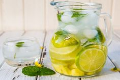 Ginger, Lime & Mint Flavored Sparkling Water - Detox and Burn Fat Detox Cleanse Water, Detox Kur, Skin Detox, Health Cleanse, Body Cleanse, Weight Loss Drinks, Healthy Weight Loss, Yummy Drinks, Healthy Drinks