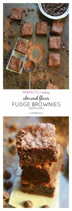 Perfectly Easy Almond Flour Fudge Brownies - The perfect easy & super fudgy gluten free brownie made with almond flour meal & coconut oil. You'll never guess they're healthier made with NO butter.