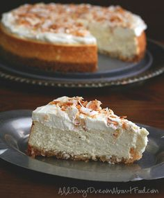 Macadamia Nut Crust Coconut Cheesecake