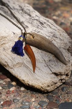 Antler Tip and Horn Talon Necklace with by TheFreezingSquirrel