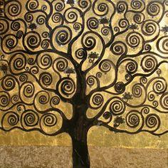 L'albero della vita. Mixed media on canvas 150x150