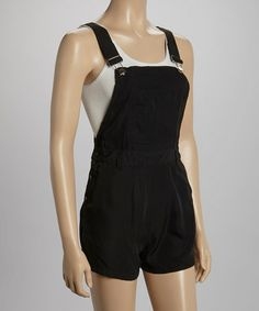 Another great find on #zulily! Black Overall Shorts by Fashion Web #zulilyfinds