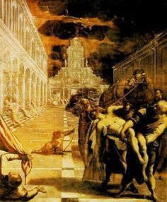 Tintoretto Jacopo Robusti, Finding The Body of Saint Mark 1562-1566
