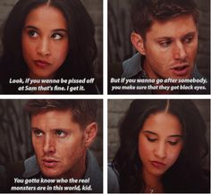 [SET OF GIFS] 9x02 Devil May Care - Yeah! Dean defends Sam!