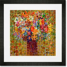 """Floral Bouquet Ochre"" Framed Abstract Art Prints by Angelo Franco for GreenBox Art + Culture: $29 - $199"