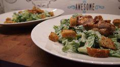 Caesar salaatti grillatulla kanalla