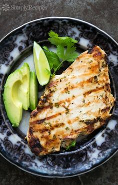 Grilled Cilantro Lime Chicken! Marinate skinless boneless chicken breasts in lime juice and cilantro marinade and then quickly grill to perfection. So easy!